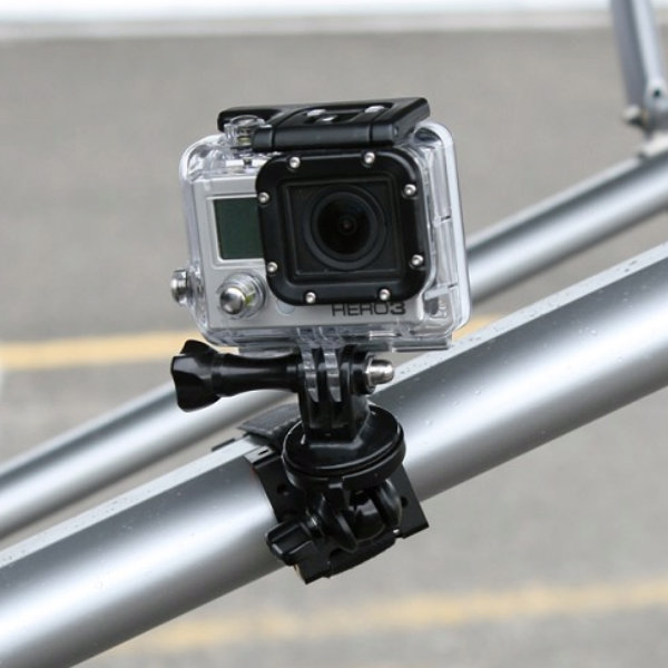 Tripod Adapter shown between Cloud 9 mount and GoPro